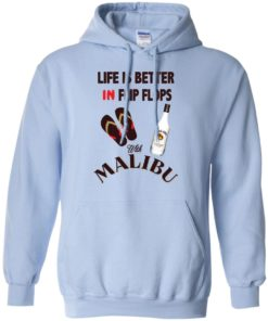 image 213 247x296px Life Is Better In Flip Flops With Malibu Rum T Shirts, Hoodies, Tank Top
