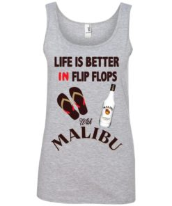 image 214 247x296px Life Is Better In Flip Flops With Malibu Rum T Shirts, Hoodies, Tank Top