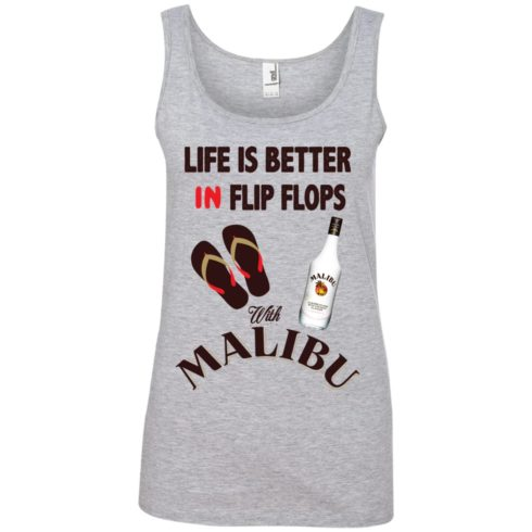 image 214 490x490px Life Is Better In Flip Flops With Malibu Rum T Shirts, Hoodies, Tank Top
