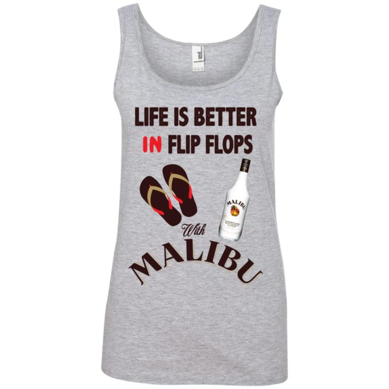 image 214 768x768px Life Is Better In Flip Flops With Malibu Rum T Shirts, Hoodies, Tank Top