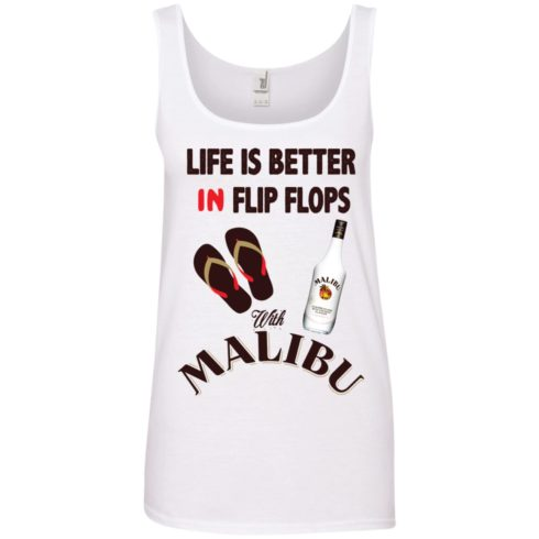 image 215 490x490px Life Is Better In Flip Flops With Malibu Rum T Shirts, Hoodies, Tank Top