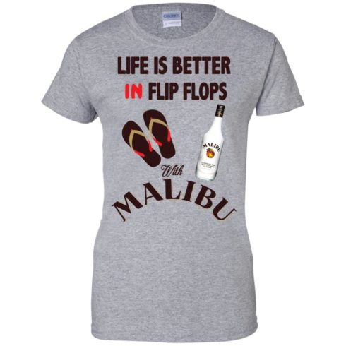 image 216 490x490px Life Is Better In Flip Flops With Malibu Rum T Shirts, Hoodies, Tank Top