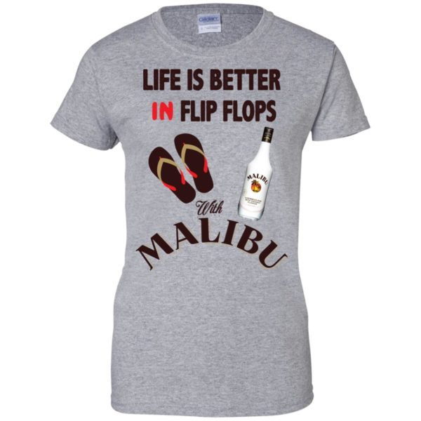 image 216 600x600px Life Is Better In Flip Flops With Malibu Rum T Shirts, Hoodies, Tank Top