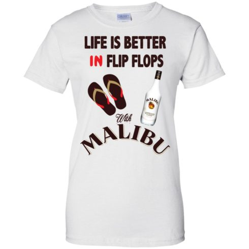 image 217 490x490px Life Is Better In Flip Flops With Malibu Rum T Shirts, Hoodies, Tank Top