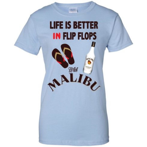 image 218 490x490px Life Is Better In Flip Flops With Malibu Rum T Shirts, Hoodies, Tank Top