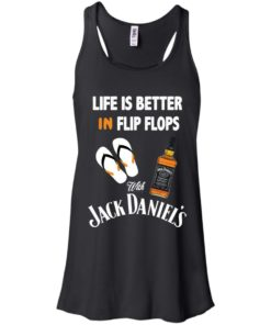image 221 247x296px Life Is Better In Flip Flops With Jack Daniel's T Shirts, Hoodies