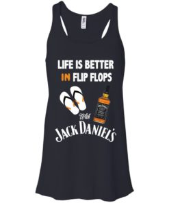 image 222 247x296px Life Is Better In Flip Flops With Jack Daniel's T Shirts, Hoodies