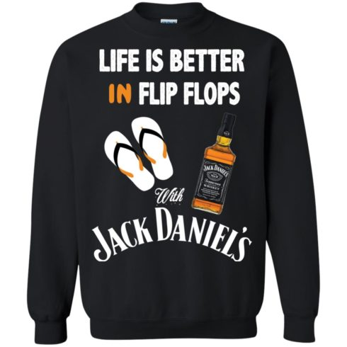 image 227 490x490px Life Is Better In Flip Flops With Jack Daniel's T Shirts, Hoodies