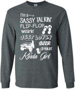 image 248 247x296px I'm a sassy talkin' flip flop wearin' jeep lovin' t shirt, hoodies, tank top