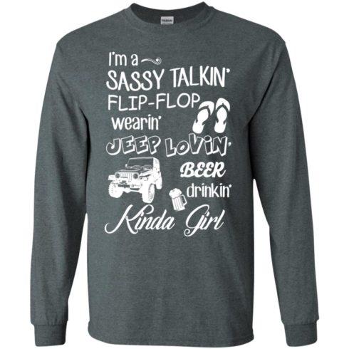 image 248 490x490px I'm a sassy talkin' flip flop wearin' jeep lovin' t shirt, hoodies, tank top