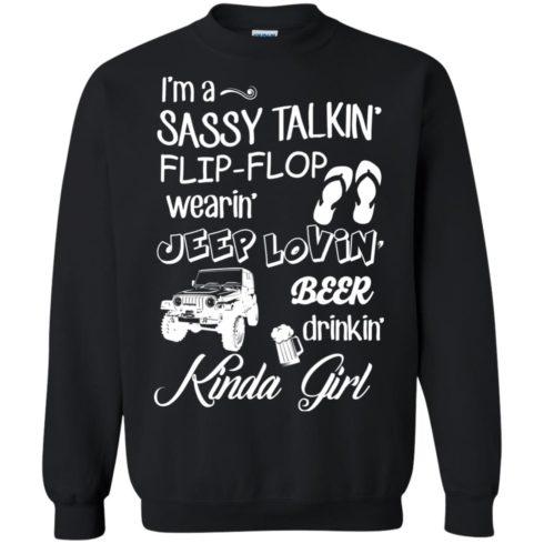 image 251 490x490px I'm a sassy talkin' flip flop wearin' jeep lovin' t shirt, hoodies, tank top