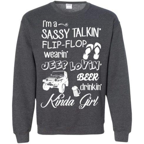 image 252 490x490px I'm a sassy talkin' flip flop wearin' jeep lovin' t shirt, hoodies, tank top