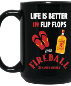 image 3 247x296px Life Is Better In Flip Flops With Firebal Mug