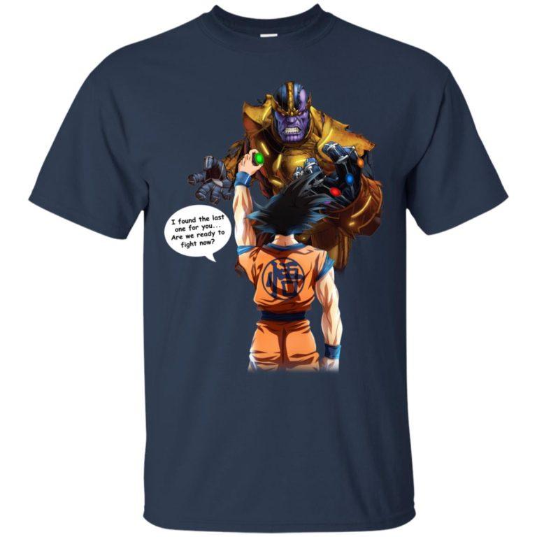 image 37 768x768px Songoku vs Thanos Mashup T Shirts, Hoodies, Tank Top