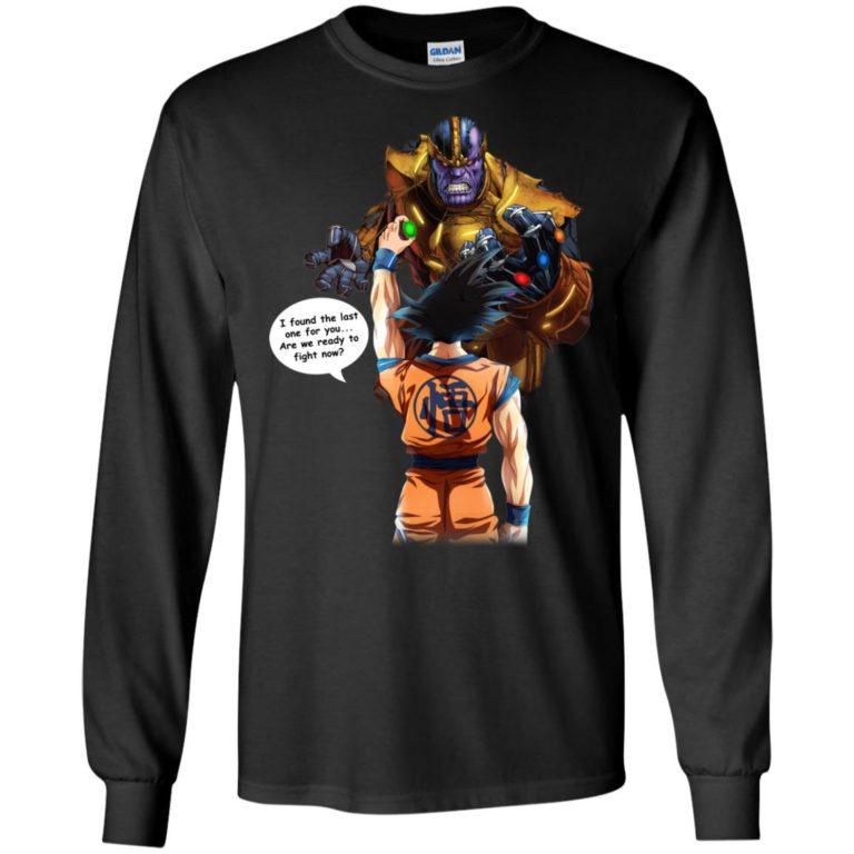 image 40 768x768px Songoku vs Thanos Mashup T Shirts, Hoodies, Tank Top