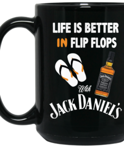 image 5 247x296px Life Is Better In Flip Flops With Jack Daniel's Coffee Mug