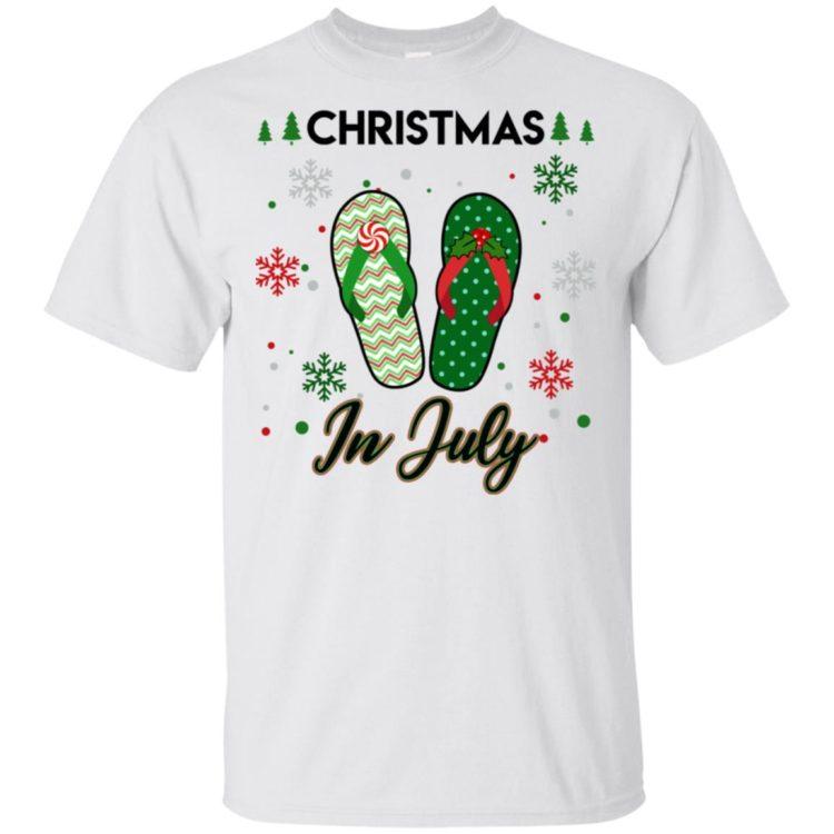 redirect 109 750x750px Santa Flip Flops Christmas In July Shirt