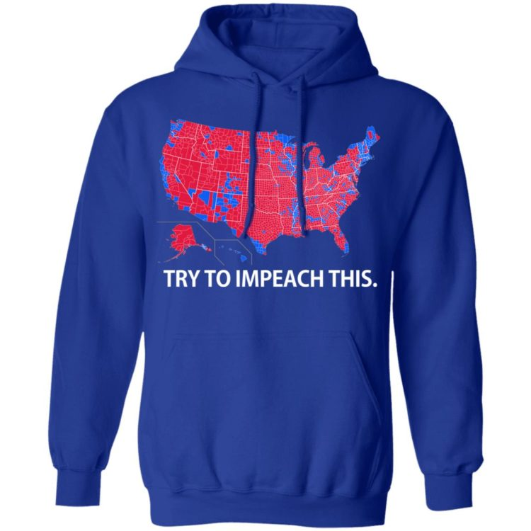 redirect 9 750x750px Try To Impeach This USA Election Map Trump Shirt