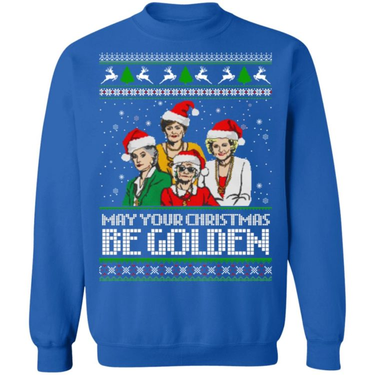 redirect 1348 750x750px Golden Girls May Your Christmas Be Golden Christmas Shirt
