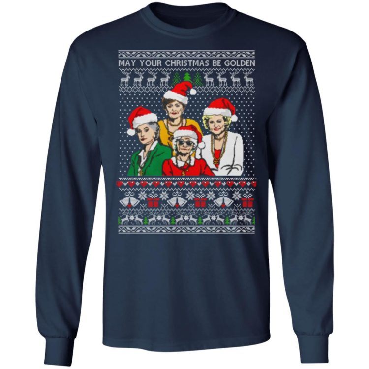 redirect 1353 750x750px Golden Girls May Your Christmas Be Golden Christmas Shirt