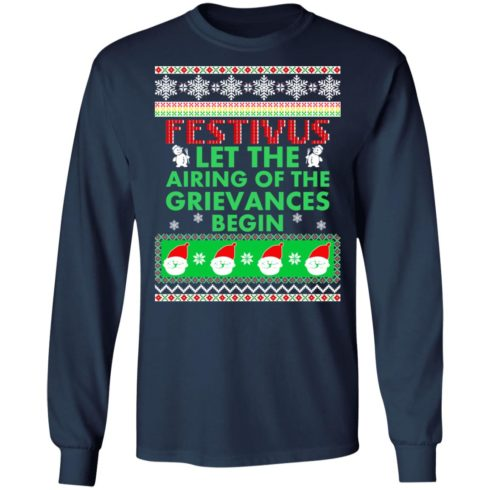 redirect 1373 490x490px Festivus Airing of the grievances begin Non Christmas Shirt