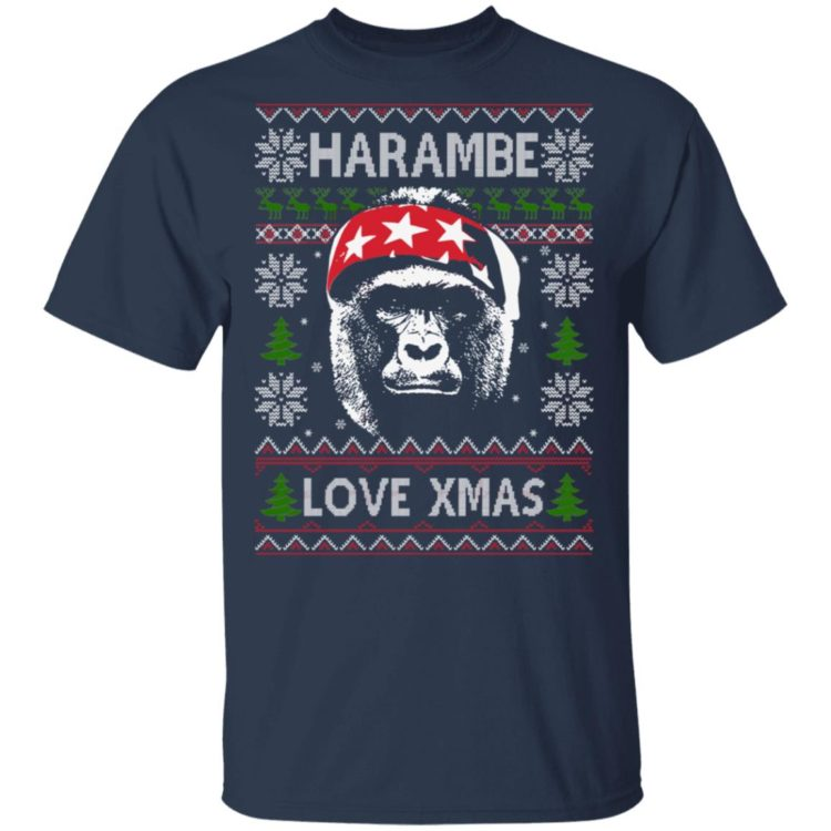 redirect 1380 750x750px Harambe Love Xmas Christmas Shirt