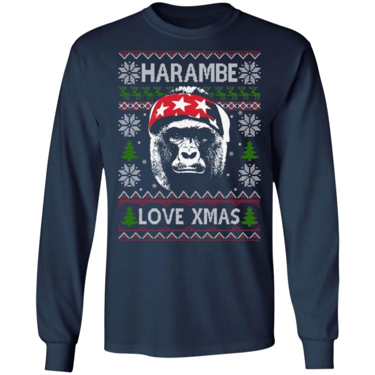 redirect 1383 750x750px Harambe Love Xmas Christmas Shirt