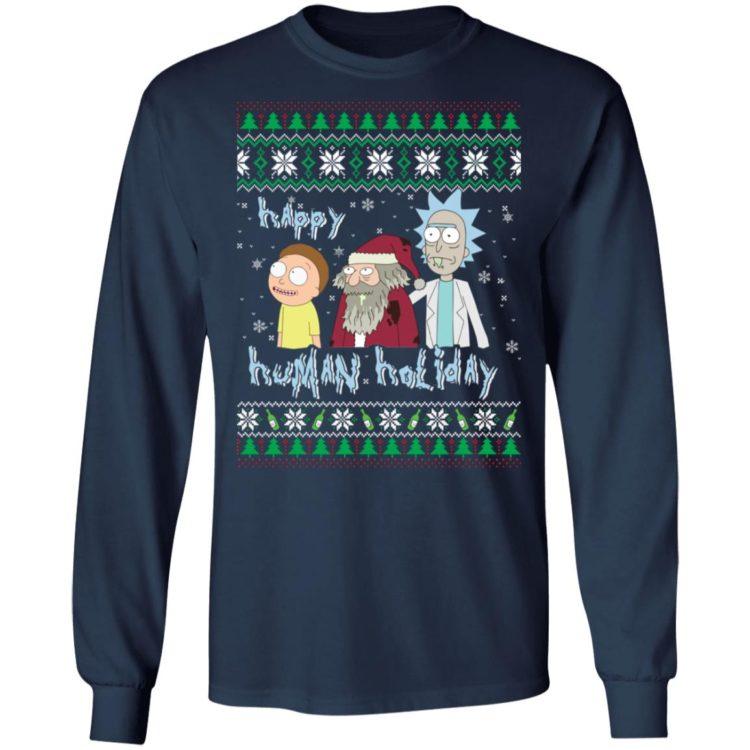 redirect 1393 750x750px Happy Human Holiday Rick And Morty Christmas Shirt