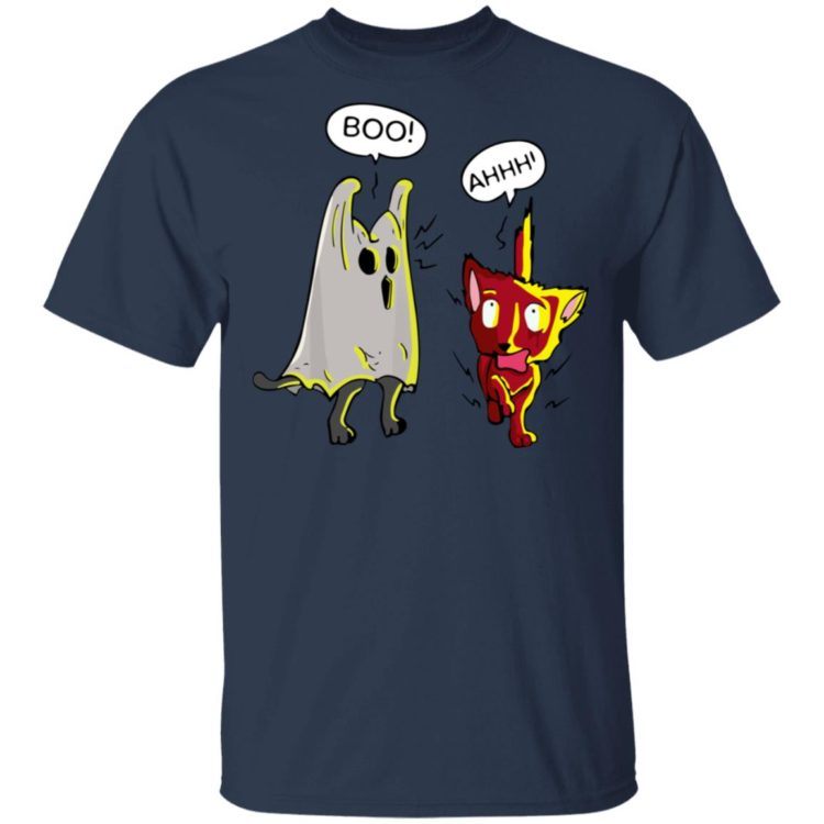 redirect 1430 750x750px Boo Cute Cat Ghost Scares Another Cat Holloween Shirt