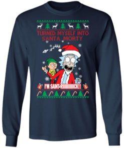 redirect 1502 247x296px I Turned Myself Into Santa Morty I'm Saint Riiiiick Christmas Shirt