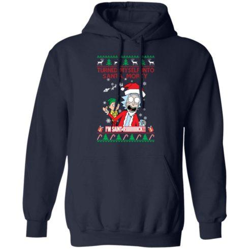 redirect 1504 490x490px I Turned Myself Into Santa Morty I'm Saint Riiiiick Christmas Shirt