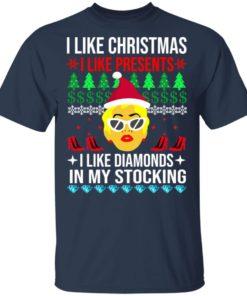 redirect 1529 247x296px I Like Christmas I Like Presents I Like Diamonds Cardi B Christmas Shirt