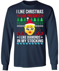 redirect 1532 247x296px I Like Christmas I Like Presents I Like Diamonds Cardi B Christmas Shirt