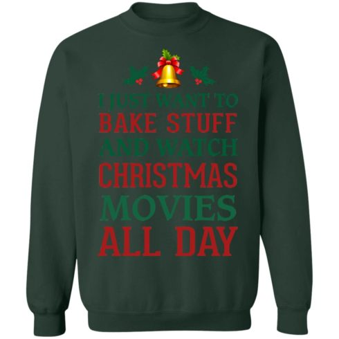 redirect 1547 490x490px I Just Want To Bake Stuff And Watch Christmas Movies All Day Shirt