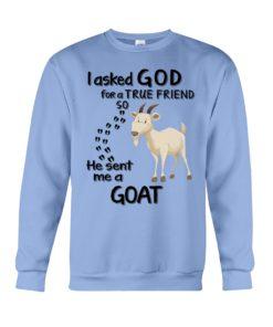 regular 4541 247x296px I Asked God For A True Friend So He Sent Me A Goat Shirt