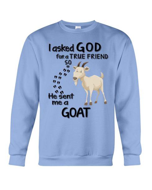 regular 4541 490x613px I Asked God For A True Friend So He Sent Me A Goat Shirt
