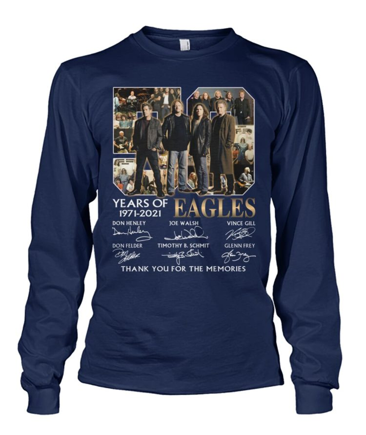 kZ9ynw K2GpBbR Evz8Oma front large 1 750x892px 50 Years Of Eagles 1971 2021 Thank You For The Memories Shirt