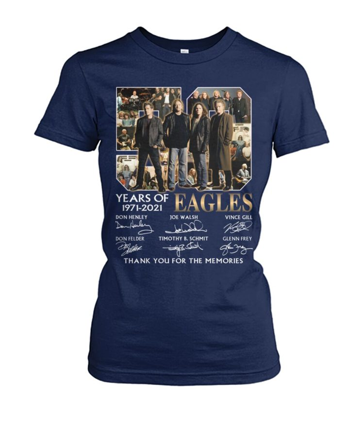 kZ9ynw XaReX1n 0mBEYLQ front large 1 750x892px 50 Years Of Eagles 1971 2021 Thank You For The Memories Shirt