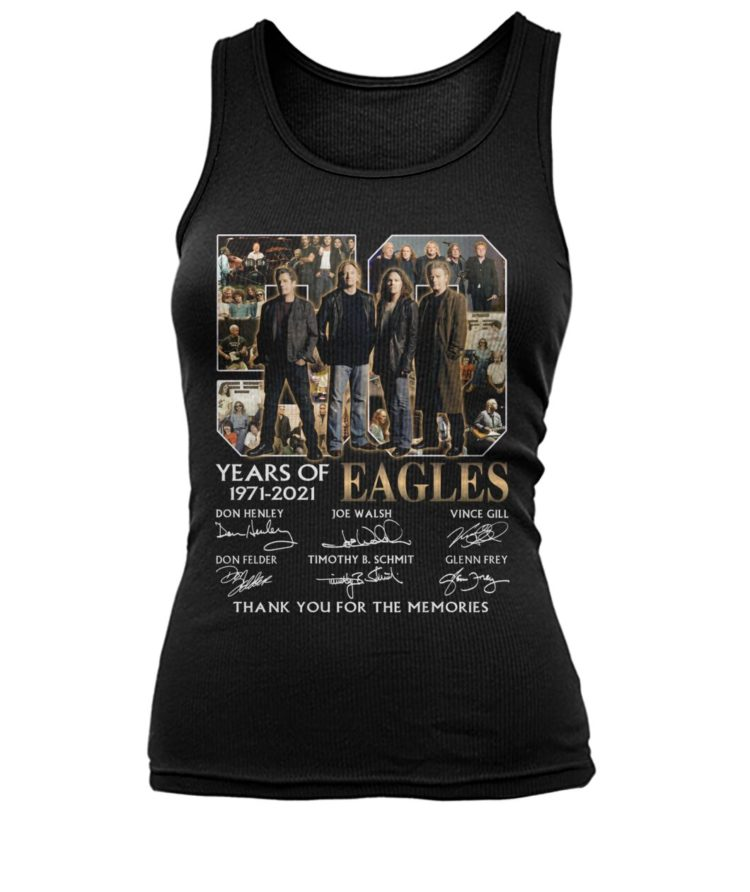 kZ9ynw bXl3DeZ 7LPlEb4 front large 1 750x892px 50 Years Of Eagles 1971 2021 Thank You For The Memories Shirt