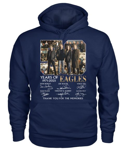 kZ9ynw re8R2z4 zb7GpqK front large 1 490x582px 50 Years Of Eagles 1971 2021 Thank You For The Memories Shirt