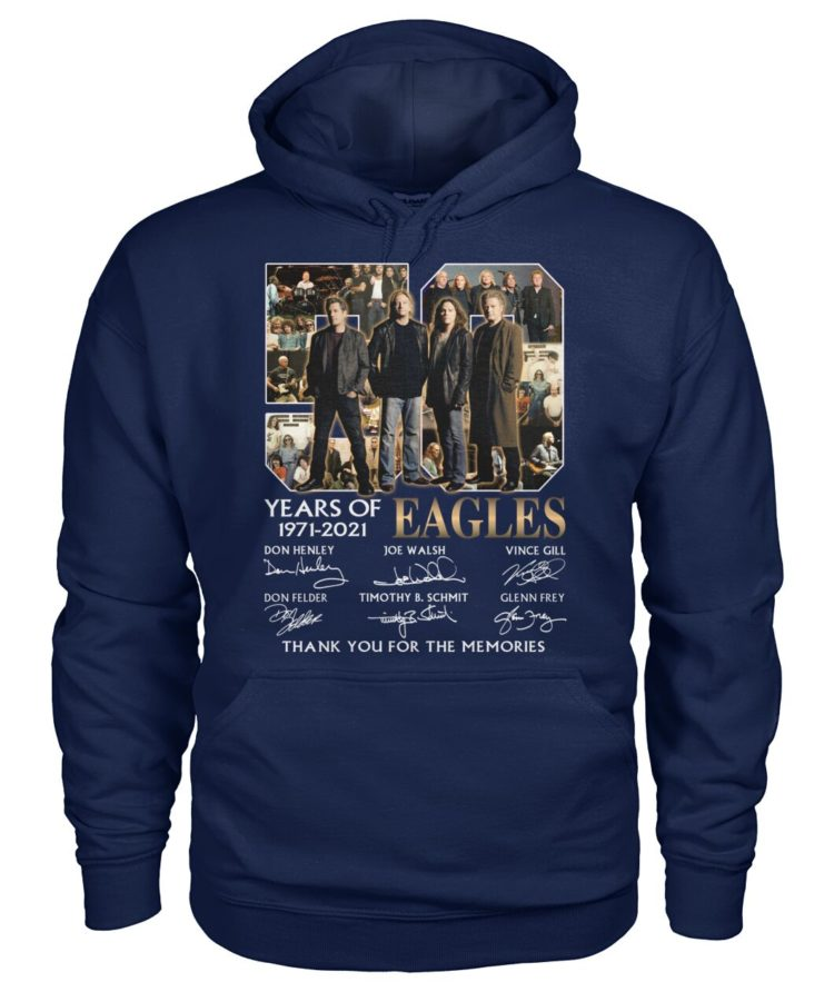 kZ9ynw re8R2z4 zb7GpqK front large 1 750x892px 50 Years Of Eagles 1971 2021 Thank You For The Memories Shirt