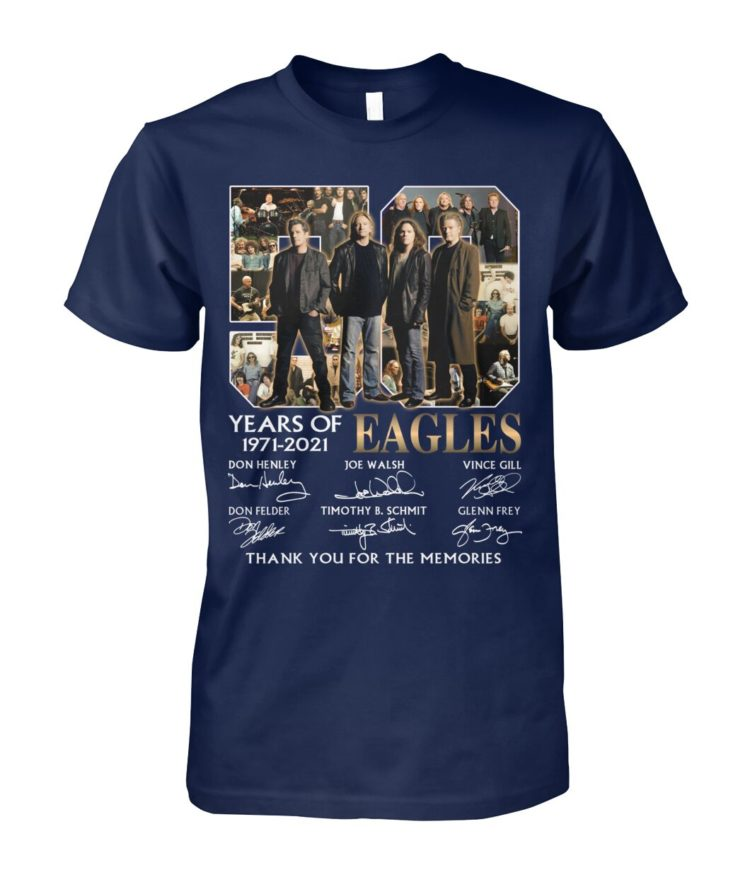 kZ9ynw vonb32a a1XaOEx front large 1 750x892px 50 Years Of Eagles 1971 2021 Thank You For The Memories Shirt