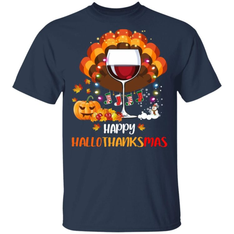 redirect 1 750x750px Halloween vs Thanksgiving   Happy Hallo Thanksmas Shirt
