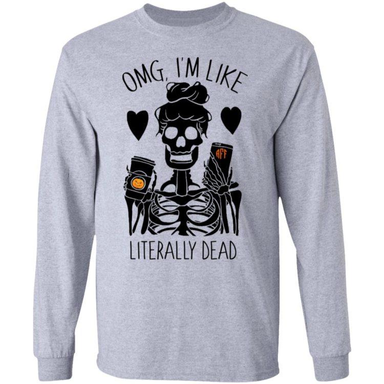 redirect 116 1 750x750px OMG I'm Like Literally Dead Monogram Halloween PersonalizationShirt
