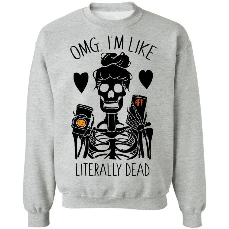 redirect 120 1 750x750px OMG I'm Like Literally Dead Monogram Halloween PersonalizationShirt