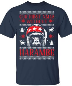 redirect 1879 247x296px Our First Xmas Without Harambe Christmas Shirt