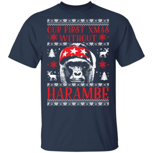 redirect 1879 490x490px Our First Xmas Without Harambe Christmas Shirt