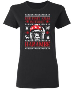redirect 1880 247x296px Our First Xmas Without Harambe Christmas Shirt