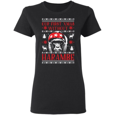 redirect 1880 490x490px Our First Xmas Without Harambe Christmas Shirt