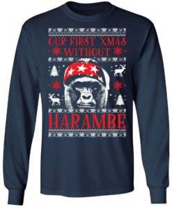 redirect 1882 247x296px Our First Xmas Without Harambe Christmas Shirt